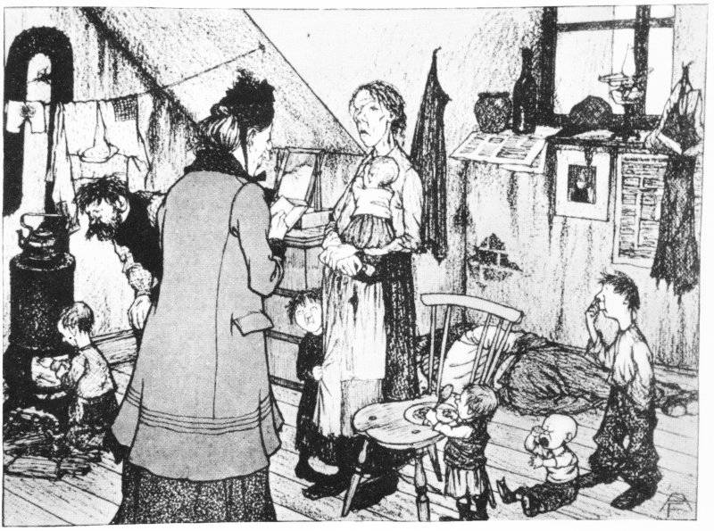 Frun som gör i välgörenhet (1901)