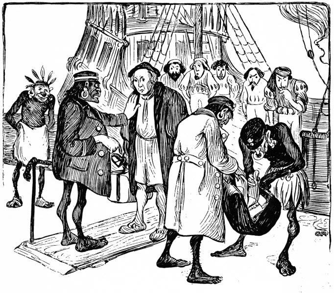 Columbus landstiger i Amerika: Tullbehandling