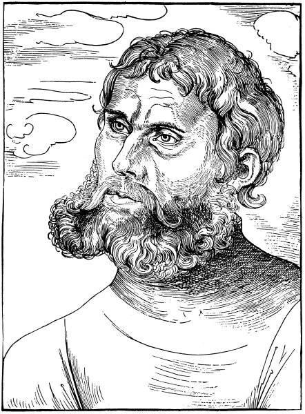 Porträtt av Luther som Junker Jörg