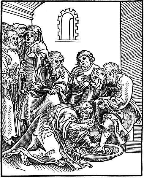 Kristus tvager lärjungarnas fötter