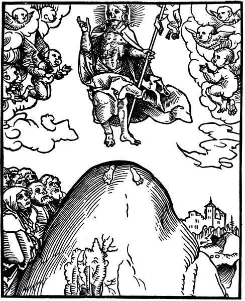 Kristus stiger mot himlen