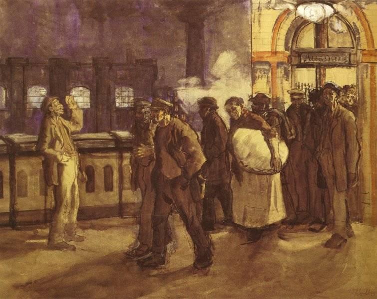 Hemvändande arbetare vid Lehrter Bahnhof