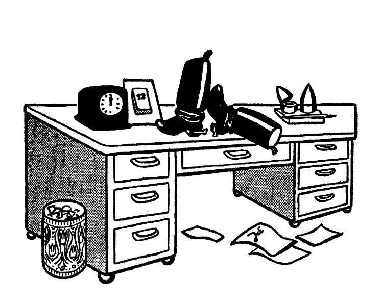 Vid skrivbordet