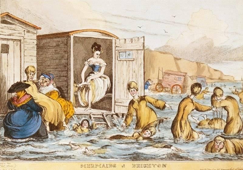 Sjöjungfrur vid Brighton