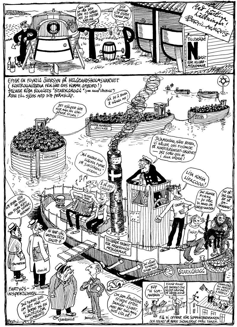 """Politisk """"tapet"""" 1954"""