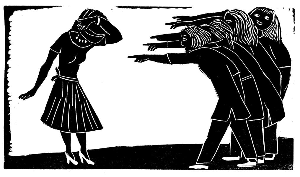 Kvinnomaffian övertygar en meningsmotståndare