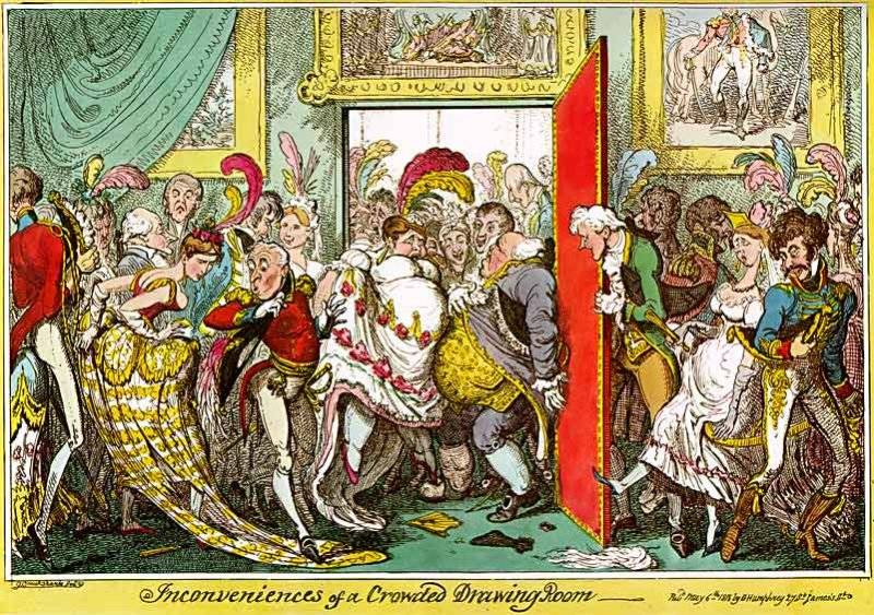 The inconveniences of a crowded drawing room