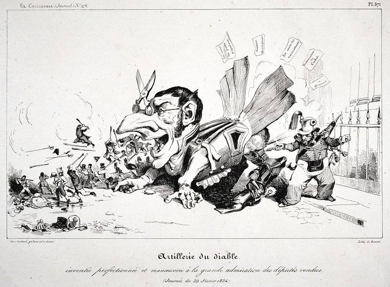 La Caricature nr 176 den 20 mars 1834