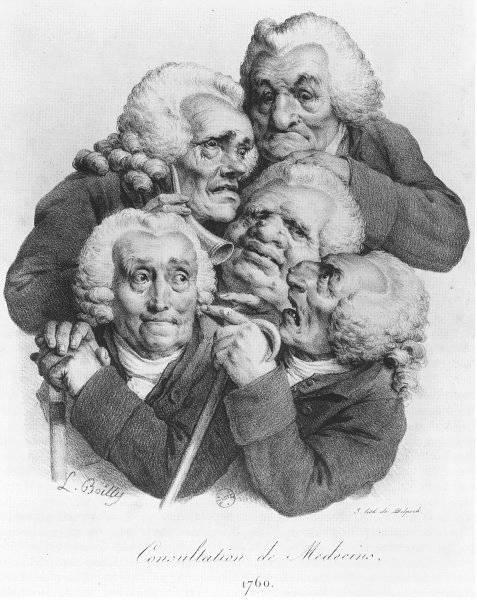 Consultation de médecins, 1760
