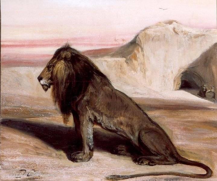 Lion avec Saint Jérome dans le désert