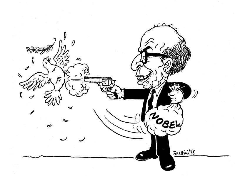 Menachim Begin tar emot Nobels fredspris