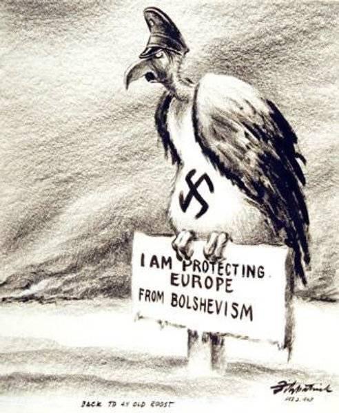 Jag försvarar Europa mot bolsjevismen