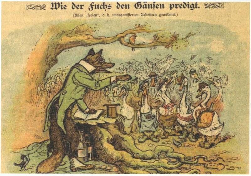 Hur räven predikar för gässen