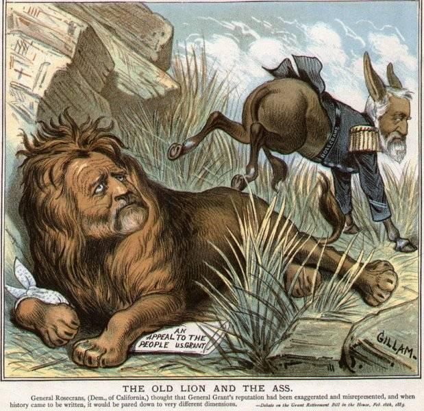 Det gamla lejonet och åsnan