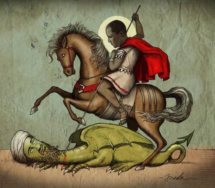 Sankt Obama och draken