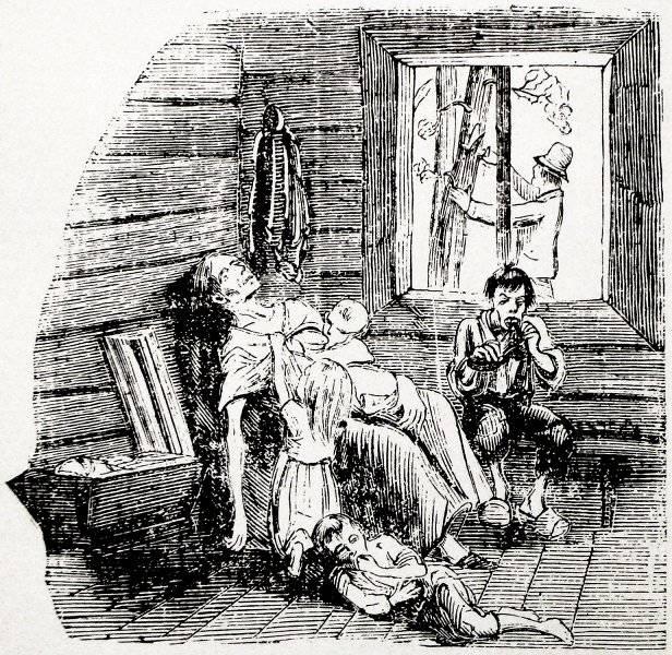 Illustration till svälten i norra Sverige