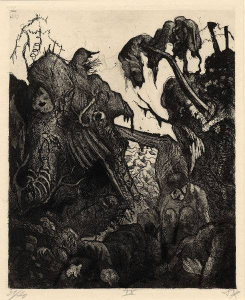 Zerfallender Kampfgraben
