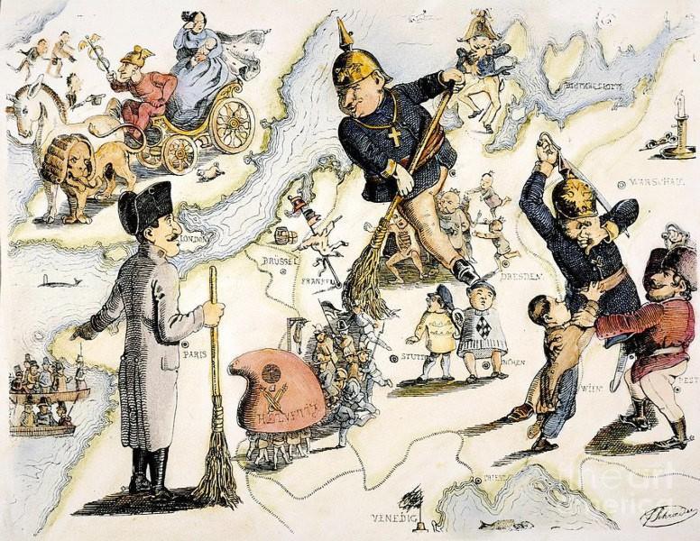 Rundmålning av Europa år 1849