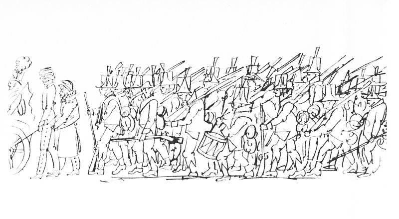 Svenska trupper på marsch i Finland 1808